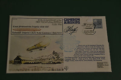 signed zeppelin cover 80th anniversay flight