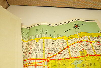Vintage NOSTRAND'S Map of Manhattan South of 96th West Side Pier Map New YorK