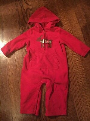 Baby Boy Or Girl 9 Month One Piece Romper Bodysuit Red Moose Carters