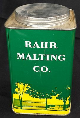 Vintage Rahr Malting Co. Tin Can Manitowoc, WI Rare Brewery Beer Supply
