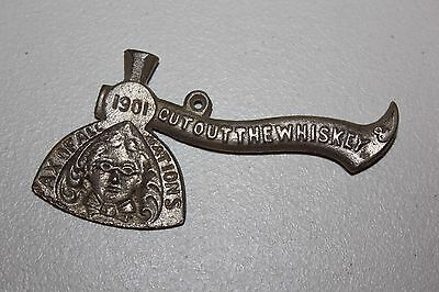 Vintage Art Stove Co. Detroit Hatchet Cast Iron Advertising Cut out the Whiskey