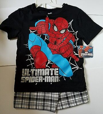 Spiderman Size 6 Shorts & Shirt Set Outfit New with Tags NWT Boy