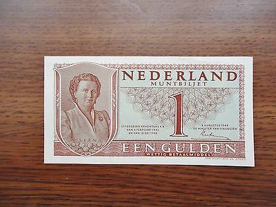 Netherlands 1945 One/1 Gulden Note/paper Money. Condition: Very Good