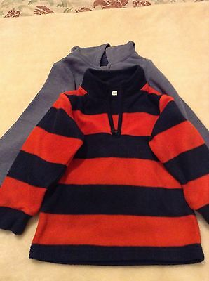Boy's Stripey Fleece and Hooded Top 18-24months