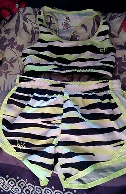 Justice sports bra and shorts girl 7 gymnast , dance, cheer