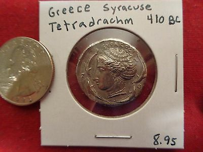 GREECE  Syracuse -Tin Remake Of Ancient Greek Tetradrachm  Coin