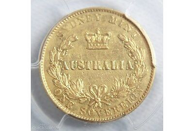 1866 Sydney Gold Sovereign PCGS XF
