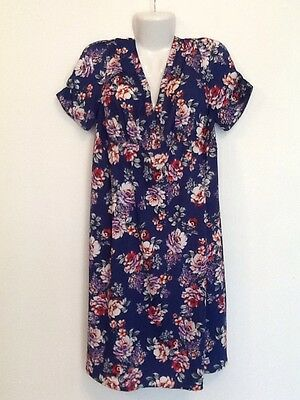 NEW LOOK Short  Sleeve Floral Maternity Dress Size 16