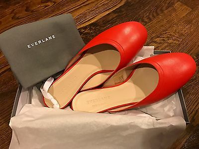 Everlane - The Day Mule - Size 6 - Red