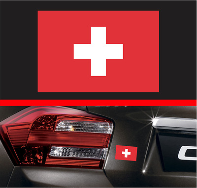 "4"" Swiss Flag Vinyl Decal Bumper Sticker Switzerland Car Decal CHE CH Fits Honda"