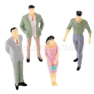 100 Painted Assorted Pose People Model Building Layout Scenery DIY Scale 1:200