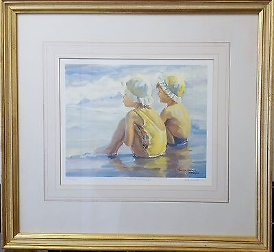 """Lucelle Raad Artist- Signed Limited Edition Print """"WATER BABIES"""""""