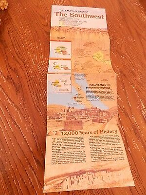The Making of America The Southwest National Geographic Society map November 82