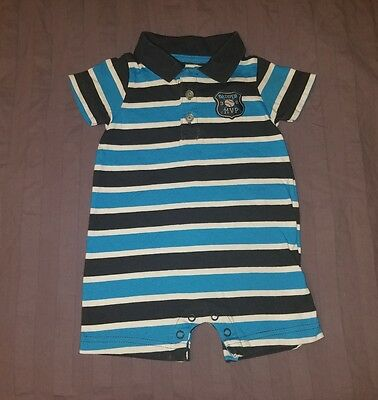 VGUC Carters Baby Boy Clothes 6 Months One Piece Short Sleeve Baseball Romper