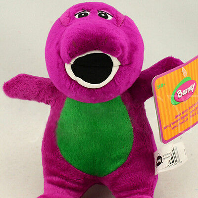 "8"" Barney Dinosaur Sing I LOVE YOU song Purple Plush Soft Kid Toy Doll Xmas Gift"
