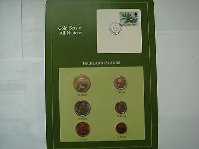 Coin Sets of All Nations-FALKLAND ISLANDS 1985 UNC 6 coins SET