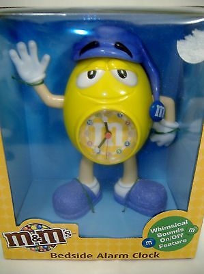 Large Collectible  M & M Alarm Clock. ...brand New In Box!!! Too Cute!!!