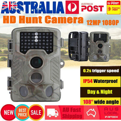 1080P Trail Camera IR Security Cam Hunting Scout Farm Night Vision Outdoor 12MP