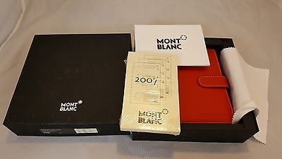 New Vintage Montblanc Leather Small Red Organizer Style 9506