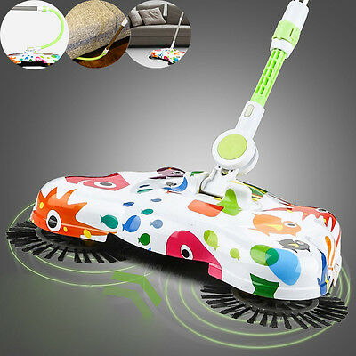 Lazy Automatic Hand Push Sweeper Broom Telescopic Floor Dust Household Cleaning