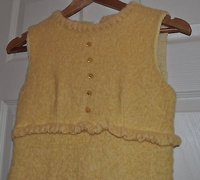 Vintage 60s Yellow Wool dress Joyce Palmer