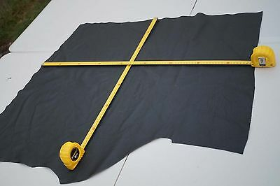 Black Upholstery Cowhide leather piece 87 x 60 cm Corrected grain