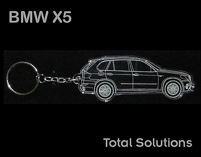 BMW X5 Keyring - Laser Engraved Car Shape with keychain attached - Great Gift