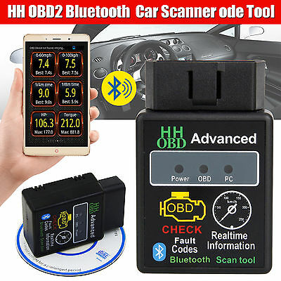 ELM327 V2.1 OBD2 II Bluetooth Car Scanner Android Torque Auto DTCs Scan Tool