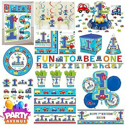 All Aboard Party Baby 1st Birthday Decorations Tableware Balloons