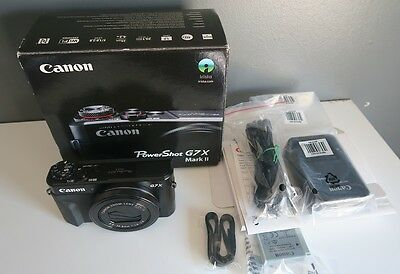 Excellent Canon Powershot G7X mark II like new - never use