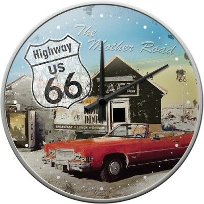 Nostalgic-Art - Wanduhr - 31cm - Highway 66 - The Mother Road