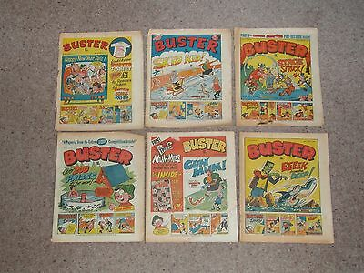 6 Buster Comics from 1980 Fair to Poor