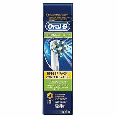Braun Oral B Electric Cross Action Toothbrush Replacement Brush Heads - NEW