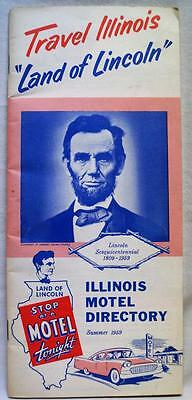 State Of Illinois Motel Directory Advertising Brochure Guide Summer 1954 Vintage