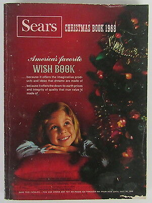 VINTAGE 1968 Sears Wishbook Christmas Catalog Batman Batboat Lego GI Joe Aurora