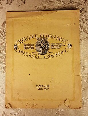 Rare Antique Chicago Orthopedic Appliance Company Catalog 1920,V.G.C,some flaws.