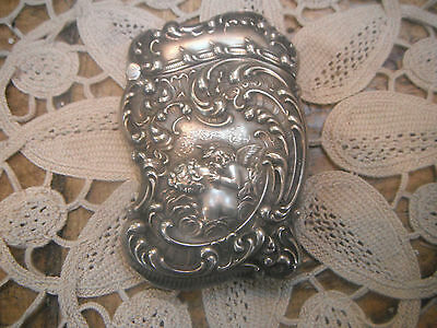 loves dream Antique sterling silver match case