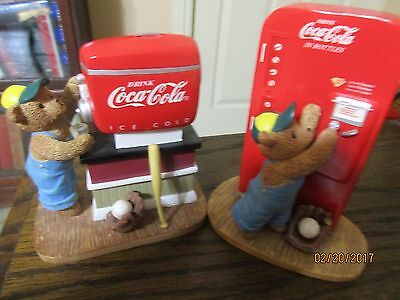 """2 Hamilton Collection """"Things Go Better With Coke"""" Limited Edition Bears"""