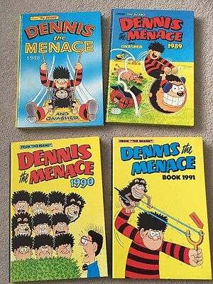 4 x Dennis The Menace Annual 1988-1991