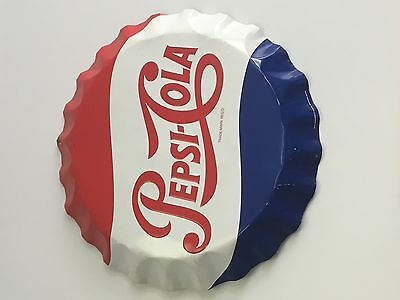 Pepsi stout sign round button 27 inch embossed soda Cola advertising