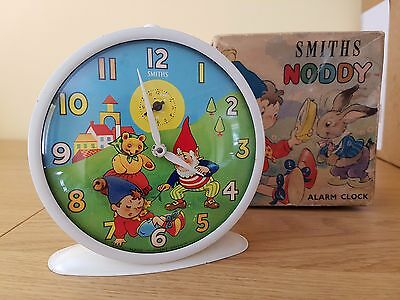 "Vintage 1962 ""Noddy & Big Ears"" Smiths Alarm Clock with Box (Serviced & Working)"