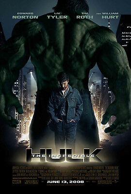 The Incredible Hulk (2008) Original Movie Poster  -  Rolled  -  Double-Sided