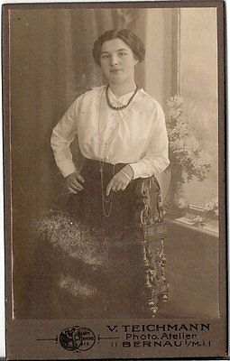 CDV photo Feine Dame - Bernau 1910er
