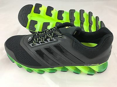 Adidas Springblade Drive 2 Mens Running Shoes Trainers Black / Yellow RRP £150