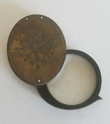 Antique Travelling Folding Magnifying Glass Probably 1800s