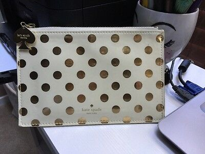 Kate Spade Gold Dots vinyl pencil pouch- POUCH ONLY!