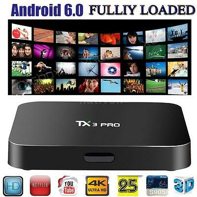 TX3 PRO 4K Media S905x Quad Core Android 6.0 Smart TV Box 16.1 Fully Loaded S1N1