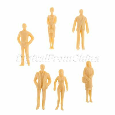 20x Model People Figures Pose Assorted Train Scenery Layout 1:25 Scale Plastic