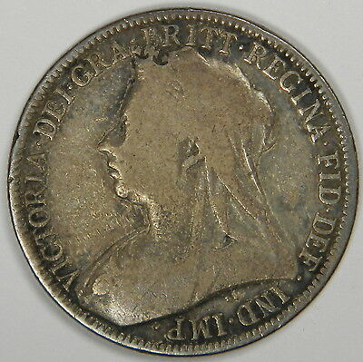 1898 United Kingdom Great Britain One Florin 2 Shillings-Silver Classic! Inv#328