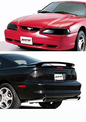 94-98 Ford Mustang V6 GT GTS Smoke Headlight Taillight Covers 4pc GT0206S GT076